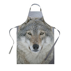 Фартук кулинарный Милый волк цвета 3D — фото 1