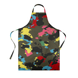 Фартук кулинарный Цветной камуфляж цвета 3D — фото 1