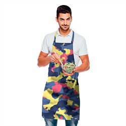 Фартук кулинарный Разноцветный камуфляж цвета 3D — фото 2