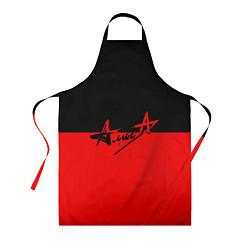 Фартук кулинарный АлисА: Черный & Красный цвета 3D — фото 1
