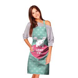 Фартук кулинарный Rabbit: Love you цвета 3D — фото 2
