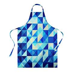 Фартук Синяя геометрия