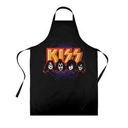 Фартук кулинарный KISS: Death Faces цвета 3D — фото 1