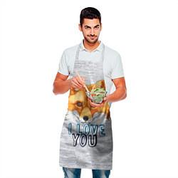 Фартук кулинарный Милая лисичка! цвета 3D — фото 2