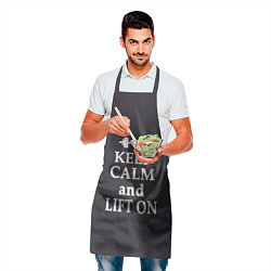 Фартук кулинарный Keep Calm & Lift On цвета 3D — фото 2
