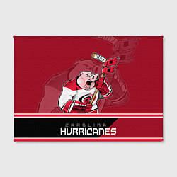 Холст прямоугольный Carolina Hurricanes цвета 3D-принт — фото 2