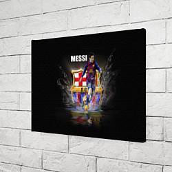 Холст прямоугольный Messi FCB цвета 3D — фото 2