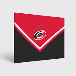 Холст прямоугольный NHL: Carolina Hurricanes цвета 3D-принт — фото 1