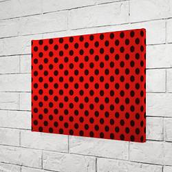 Холст прямоугольный Леди Баг: узор цвета 3D-принт — фото 2
