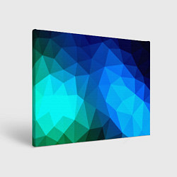 Холст прямоугольный Fight Polygon цвета 3D — фото 1