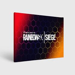 Холст прямоугольный RAINBOW SIX SIEGE РАДУГА 6 цвета 3D — фото 1