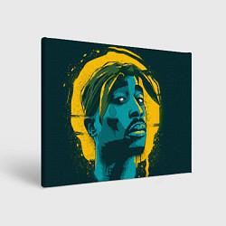 Холст прямоугольный 2Pac Shakur цвета 3D — фото 1