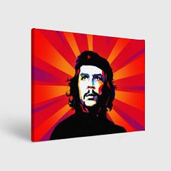 Холст прямоугольный Че Гевара цвета 3D — фото 1