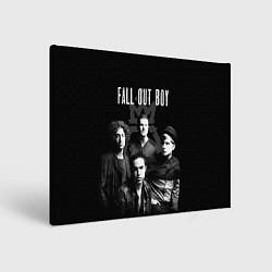 Холст прямоугольный Fall out boy band цвета 3D-принт — фото 1