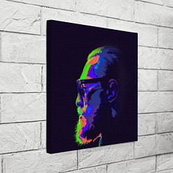 Холст квадратный McGregor Neon цвета 3D — фото 2
