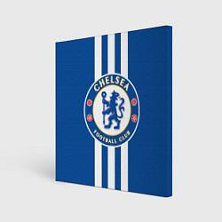 Холст квадратный FC Chelsea: Gold Lines цвета 3D-принт — фото 1