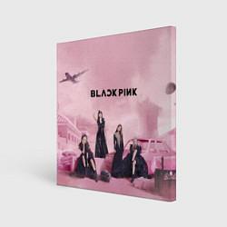 Холст квадратный BLACKPINK x PUBG цвета 3D-принт — фото 1