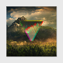 Холст квадратный 30 seconds to mars цвета 3D — фото 2