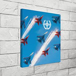 Холст квадратный Самолеты ВВС цвета 3D — фото 2