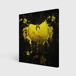 Холст квадратный Wu-Tang Clan: Yellow цвета 3D-принт — фото 1