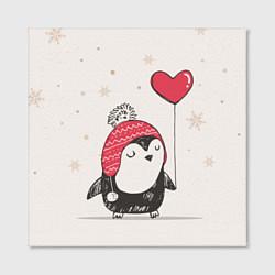 Холст квадратный Влюбленный пингвин цвета 3D-принт — фото 2