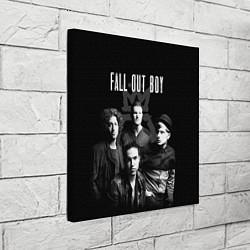 Холст квадратный Fall out boy band цвета 3D — фото 2