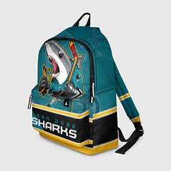 Рюкзак San Jose Sharks цвета 3D-принт — фото 1