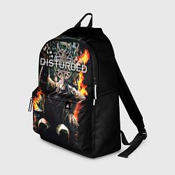 Рюкзак Disturbed: Flame Throne цвета 3D-принт — фото 1