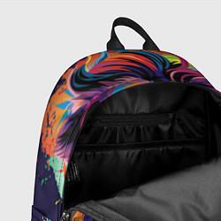 Рюкзак Красочный лев цвета 3D-принт — фото 2