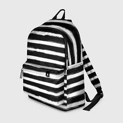 Рюкзак Тельняшка зебра цвета 3D-принт — фото 1