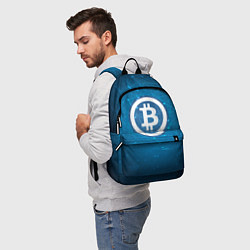 Рюкзак Bitcoin Blue цвета 3D-принт — фото 2