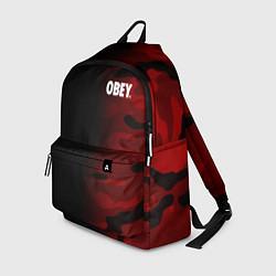 Рюкзак Obey Military Black Red цвета 3D-принт — фото 1