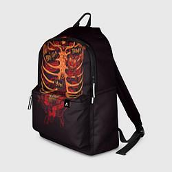 Рюкзак Человеческий скелет цвета 3D — фото 1
