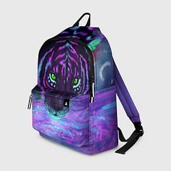 Рюкзак Неоновый тигр цвета 3D — фото 1