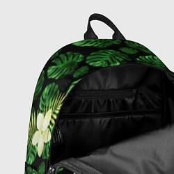 Рюкзак Jurassic World: Green Flowers цвета 3D-принт — фото 2