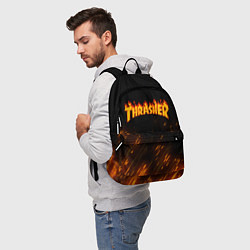 Рюкзак Thrasher: Hell Flame цвета 3D — фото 2