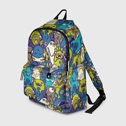 Рюкзак Маленькие монстры цвета 3D — фото 1
