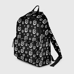 Рюкзак Twitch: Black Pattern цвета 3D-принт — фото 1