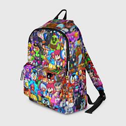 Рюкзак BRAWL STATS ВСЕ ПЕРСОНАЖИ цвета 3D — фото 1