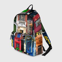 Рюкзак London doors цифровой коллаж цвета 3D-принт — фото 1
