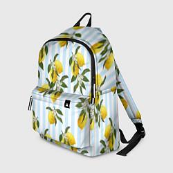 Рюкзак Лимоны цвета 3D — фото 1