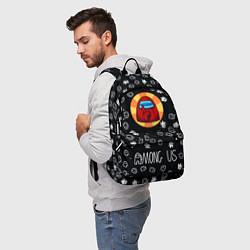 Городской рюкзак с принтом AMONG US, цвет: 3D, артикул: 10274726905601 — фото 2