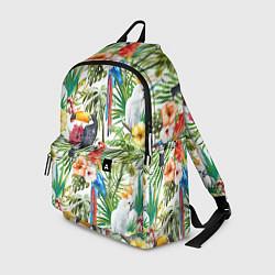 Рюкзак Попугаи в тропиках цвета 3D — фото 1