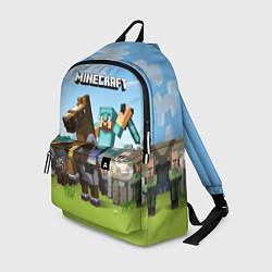 Рюкзак Minecraft Rider цвета 3D — фото 1