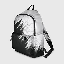 Рюкзак Черно-белый разрыв цвета 3D — фото 1