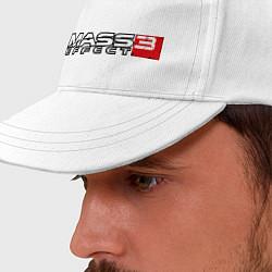 Бейсболка Mass Effect 3 цвета белый — фото 2