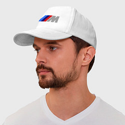Бейсболка BMW M цвета белый — фото 1