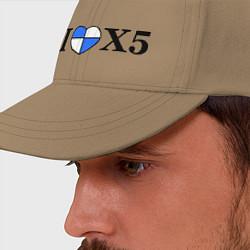 Бейсболка I love x5 цвета миндальный — фото 2