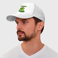 Бейсболка Minecraft Creeper цвета белый — фото 1