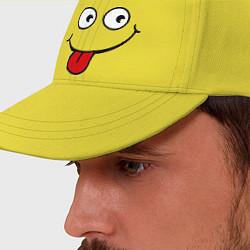 Бейсболка Wow Face цвета желтый — фото 2